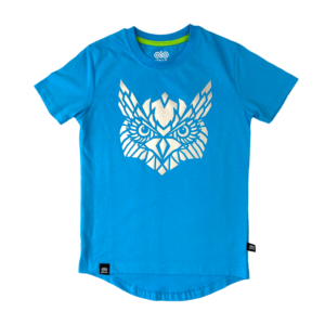 koszulka rowerowa niebieska dla dziecka